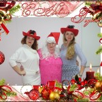 MRS CLAUS WITH HER  AMAZING FAIRIES DIANA & VALARY